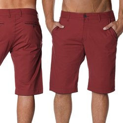 Herren Chino Shorts in Bordo