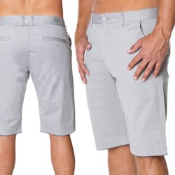 Herren Chino Shorts Kurze Hose in Grau