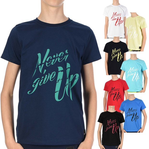 Jungen T-Shirt mit Never Give Up