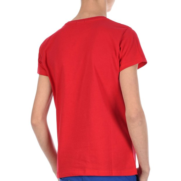 Jungen T-Shirt mit Never Give Up Rot 140/146