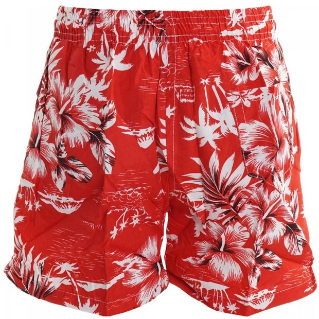Kinder Bade Shorts Kurz Rot 116