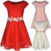 Madchen Kleid Mit Spitze